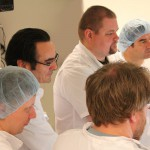 Joe Bonner and Nico Buehler with other dental implant students